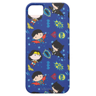Chibi Wonder Woman, Superman, and Batman Pattern iPhone 5 Case