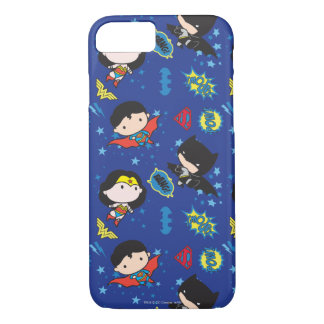 Chibi Wonder Woman, Superman, and Batman Pattern iPhone 7 Case