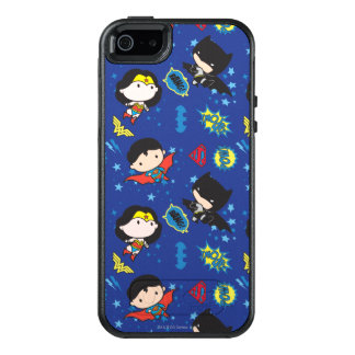 Chibi Wonder Woman, Superman, and Batman Pattern OtterBox iPhone 5/5s/SE Case
