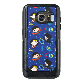 Chibi Wonder Woman, Superman, and Batman Pattern OtterBox Samsung Galaxy S7 Case