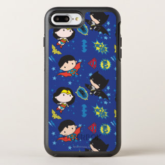 Chibi Wonder Woman, Superman, and Batman Pattern OtterBox Symmetry iPhone 7 Plus Case