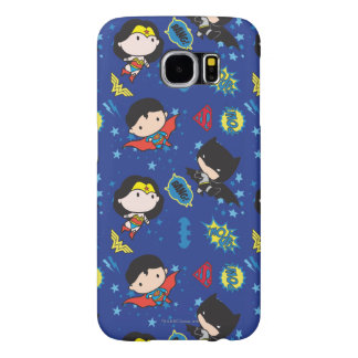 Chibi Wonder Woman, Superman, and Batman Pattern Samsung Galaxy S6 Cases
