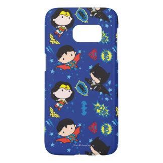 Chibi Wonder Woman, Superman, and Batman Pattern Samsung Galaxy S7 Case