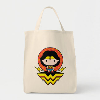Chibi Wonder Woman With Polka Dots and Logo