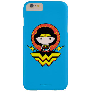 Chibi Wonder Woman With Polka Dots and Logo Barely There iPhone 6 Plus Case