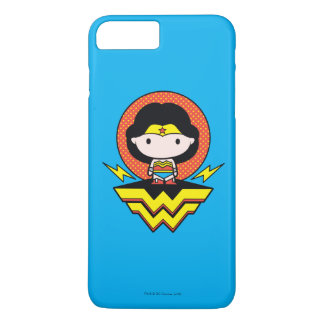 Chibi Wonder Woman With Polka Dots and Logo iPhone 8 Plus/7 Plus Case