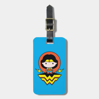 Chibi Wonder Woman With Polka Dots and Logo Luggage Tag