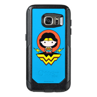 Chibi Wonder Woman With Polka Dots and Logo OtterBox Samsung Galaxy S7 Case