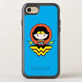 Chibi Wonder Woman With Polka Dots and Logo OtterBox Symmetry iPhone 8/7 Case