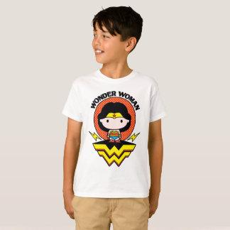 Chibi Wonder Woman With Polka Dots and Logo T-Shirt