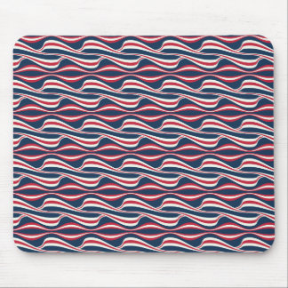Chic abstract american Labor Day Pattern Mouse Pad