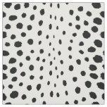 Chic abstract black white cheetah print pattern fabric