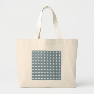 Chic Abstract Diamond Blue Canvas Tote Bag