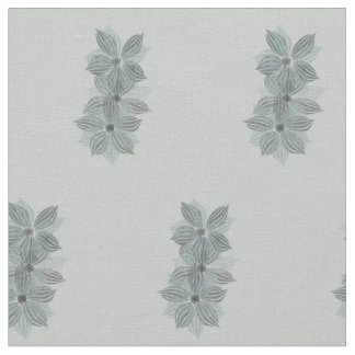 Chic Abstract Floral Pattern Pastels Grey Blue Fabric