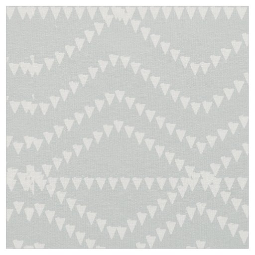 Chic Abstract Geometric Pattern  Grey Blue Fabric