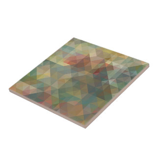 Chic Abstract Retro Triangles Mosaic Pattern Tile