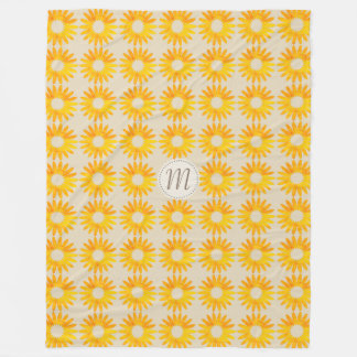 Chic Abstract Sunflower Pattern Beige Fall Blanket