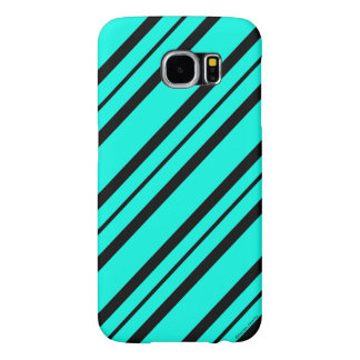 """Chic Accents"" Aqua & Black Samsung Galaxy S6 Case"