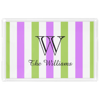 CHIC ACRYLIC SERVING TRAY_LOVELY LILAC/GREEN PERFUME TRAY