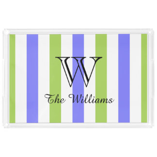 CHIC ACRYLIC SERVING TRAY_LOVELY PERIWINKLE/GREEN PERFUME TRAY