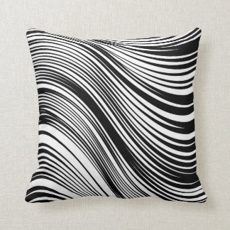 Chic African Inspired Black and White Zebra Print Throw Pillow