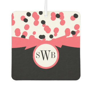 CHIC AIR FRESHENER_GIRLY BLACK/WHITE/ CORAL CAR AIR FRESHENER