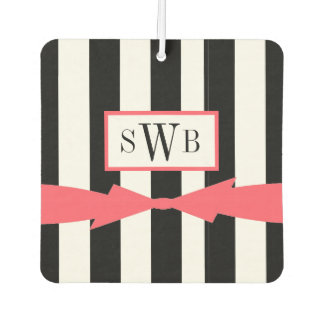 CHIC AIR FRESHENER_GIRLY BLACK/WHITE WITH CORAL AIR FRESHENER