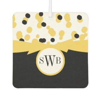 CHIC AIR FRESHENER_GIRLY BLACK/WHITE/YELLOW AIR FRESHENER