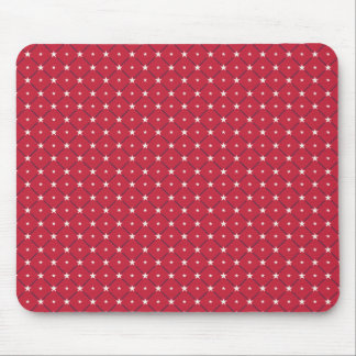 Chic american Labor Day Pattern with Stars Mouse Pad