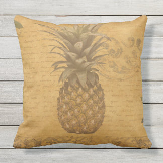 Chic and Beautiful Vintage Pineapple Art Throw Pillow