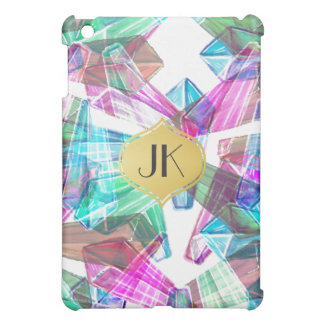 Chic and Carefree Bohemian Gold Monogram Cover For The iPad Mini