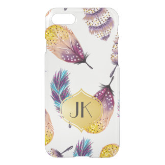 Chic and Carefree Bohemian Gold Monogram iPhone 8/7 Case