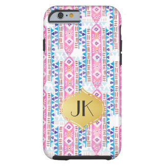 Chic and Carefree Bohemian Gold Monogram Tough iPhone 6 Case