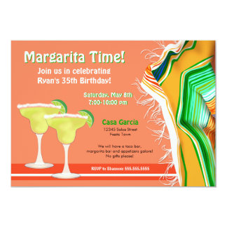 Chic and Contemporary Margarita Party Card