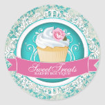 Chic and Elegant Cupcake Box Stickers