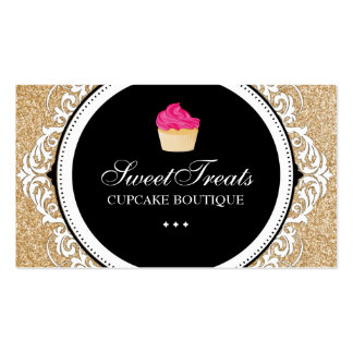 Chic and Elegant Cupcake Business Cards