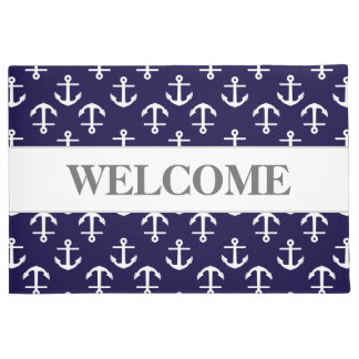 Chic and Elegant Nautical Anchor Pattern Welcome Doormat