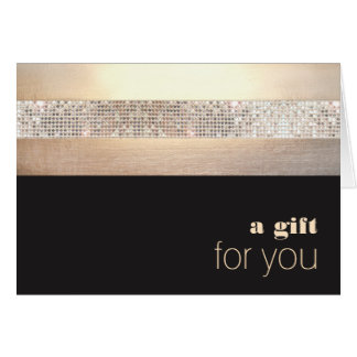 Chic and Elegant Sequin Gold Black Gift Card