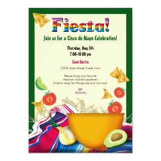Chic and Fun Mexican Fiesta Party Invitation