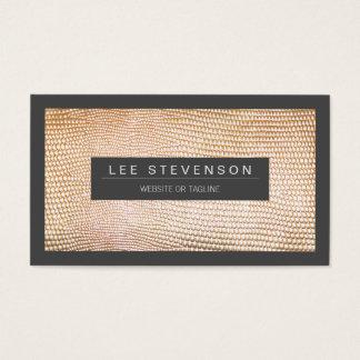 Chic and Stylish Gold Snake Skin Pattern Business Card