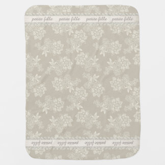 Chic Antique Lace Look Custom Baby Blanket
