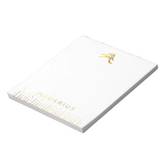 Chic Aquarius Astrology Post It NotePad