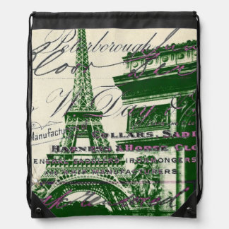 chic architecture victory gate paris eiffel tower backpacks