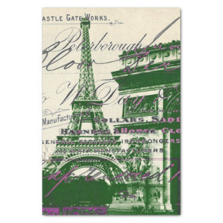 chic architecture victory gate paris eiffel tower tissue paper