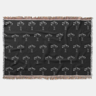 Chic Art Deco Style Floral Pattern Throw Blanket