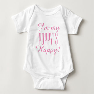 """CHIC BABY_ """"POPPY'S HAPPY"""" BODYSUIT_PINK BABY BODYSUIT"""