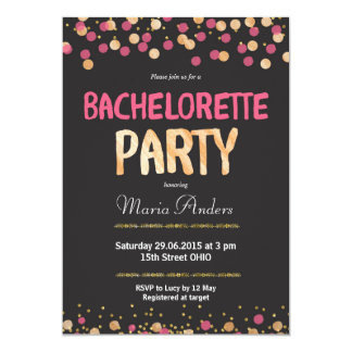 Chic Bachelorette Party Invitation