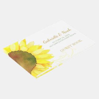 Chic Backyard Sunflower Wedding Guest Book