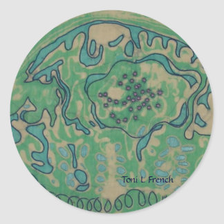 Chic Batik Sticker ~ Green