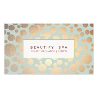 Chic Beauty Salon and Spa FAUX Gold Pattern Pack Of Standard Business Cards